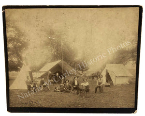 1880s US Geological Survey Georgia Map Camp Guide Photo