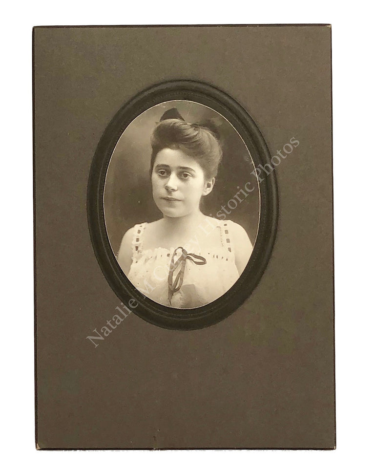 1900s Young Edwardian Woman Risque Lingerie Portrait Photos