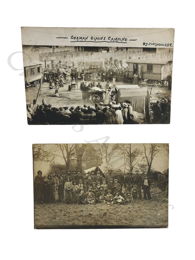 Antique 1920s Romany German Gypsies English Camp Photos RPPC
