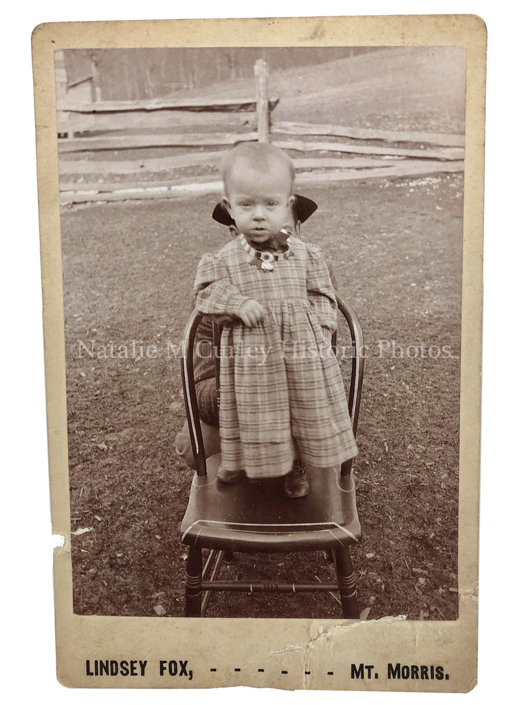 19thc Compelling Hidden Father Baby Cabinet Photo