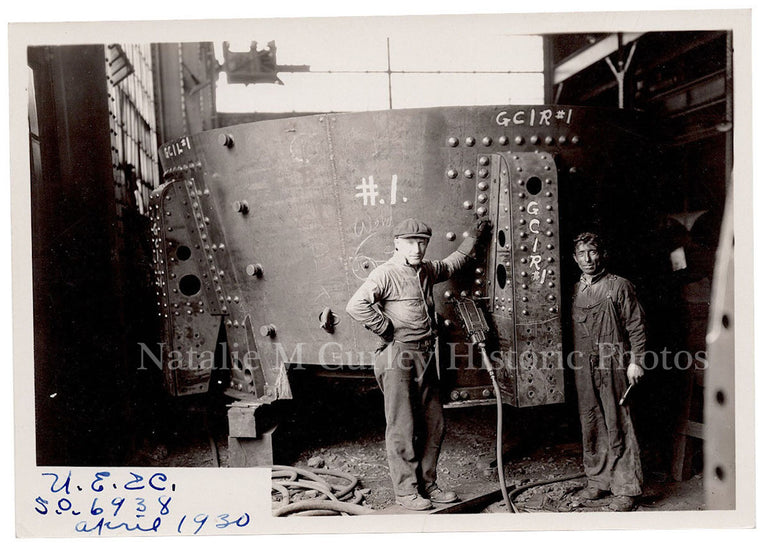 1930 Factory Interior Labor Workers Portrait Photo