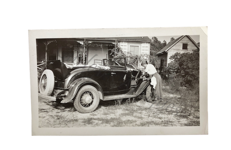 Vintage 1930s Auto Mechanic Women's Labor Photo