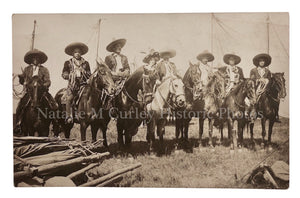 1920s Horse Mounted Mexican Men Bolero Suits & Performer Photo RPPC