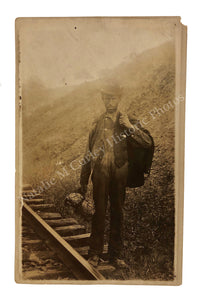 1910s Railroad Hobo Migrant Outsider Portrait RPPC Photo
