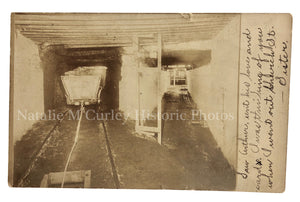 1900s Coal Mine Interior Photo RPPC