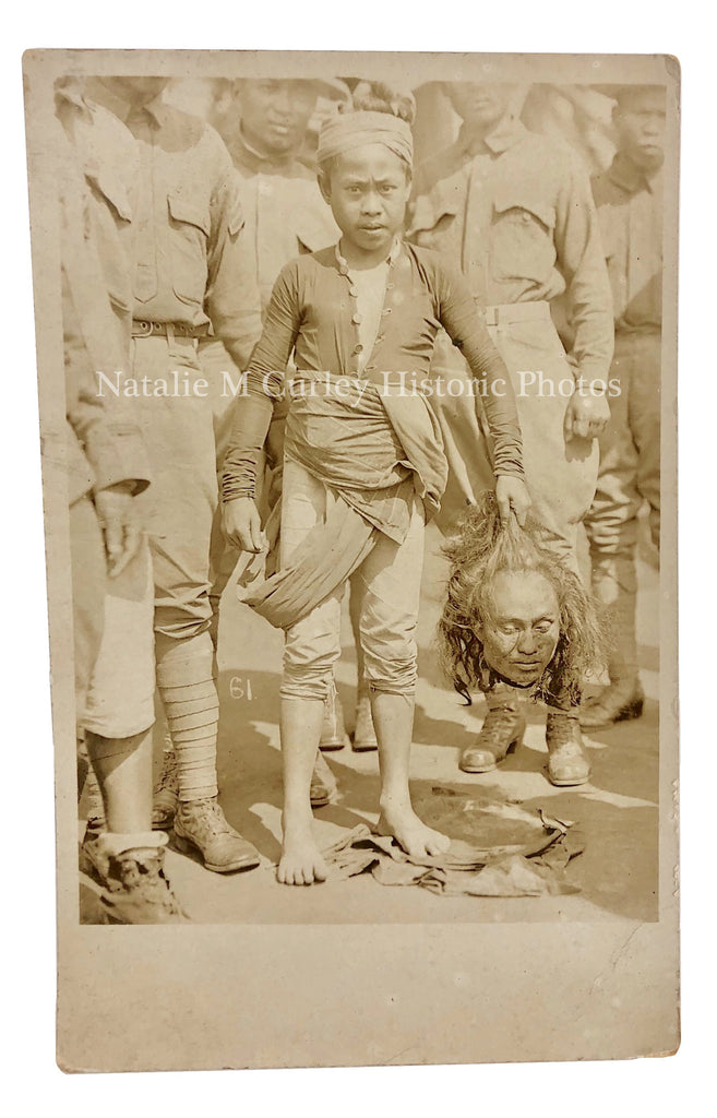 1910s Child Soldier Decapitation Moro Philippine Insurrection RPPC Photo