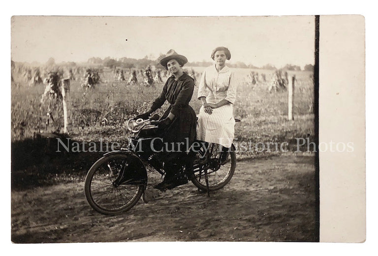 1910s Girlfriends BEST Bicycle Farm Photo RPPC