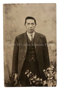 1920s Native American Man Assimilation Dress Portrait Photo