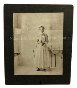 1900s Victorian Nurse Early Uniform Cabinet Photo