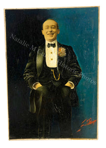 1910s PHOTOGRAPH Jazz Age Belle Epoque Portrait Collage Oil Painting