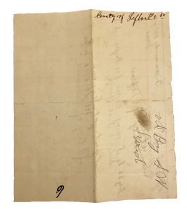 Vintage 1901 Paupers Grave Pest House Disease Victim Greenwood MS Receipt