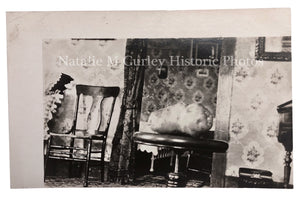 1910s ODD Potato Farmhouse Interior Vernacular Photo RPPC
