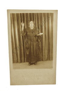 Vintage 1940s African American Woman Bible Preacher Photo RPPC