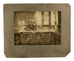 1920s Crystal Radio School Kit Lg Mounted Photo