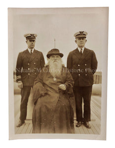 1940s WWII ERA Russian Orthodox Priest Naval Officers RPPC Photo