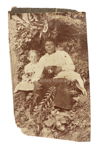 1890s African American Domestic Servants Children Dogs Portrait Photo