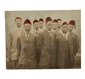 Vintage 1920s African American Fraternal Order H/C Photo