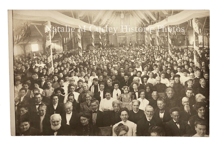 1910s Church Revival CROWD Photo RPPC