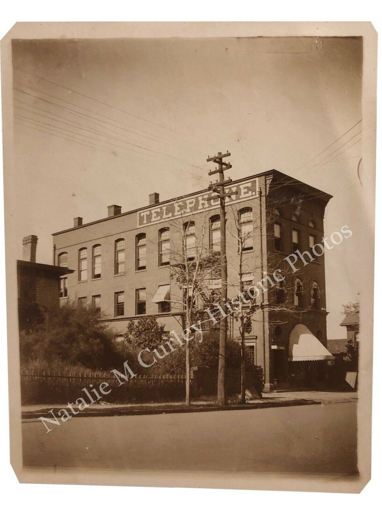 1910s TELEPHONE Commercial Building Snapshot Photo