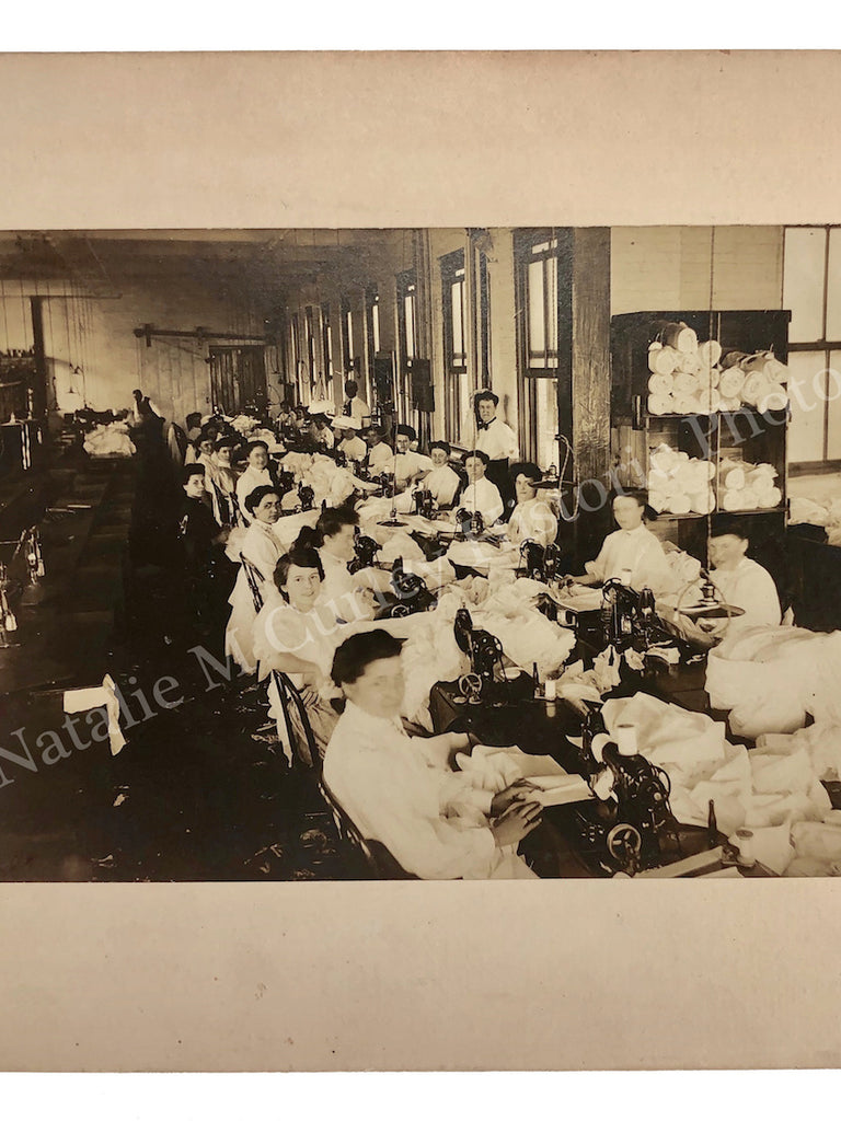 1910s Women Sewing Machines Textile Industry Labor Photo