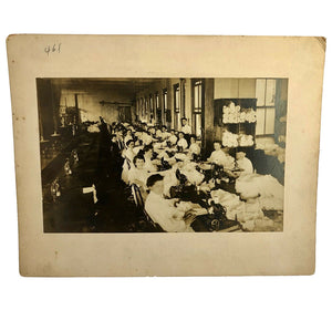 1900s Textile Sewing Clothing Factory Shirtwaist Girls Women Labor Photo