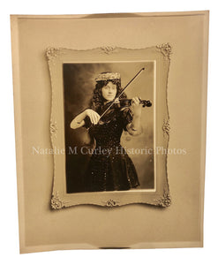 1900s Costume Violinist Photographer Portrait
