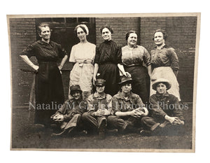 Vintage 1920s Factory Women Work Labor Crew Photo