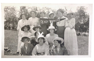 1920s Rosie Women READY WORKERS Pennant Labor Photo