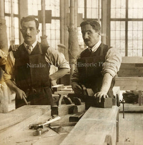 1910s Blind WWI Veterans St. Dunstan UK Men Labor Reform Photo