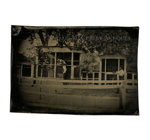 Antique 1890s EARLY ZOO Tintype Photo
