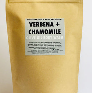 Verbena And Chamomile Olive Oil Body Wash Refill Pouch