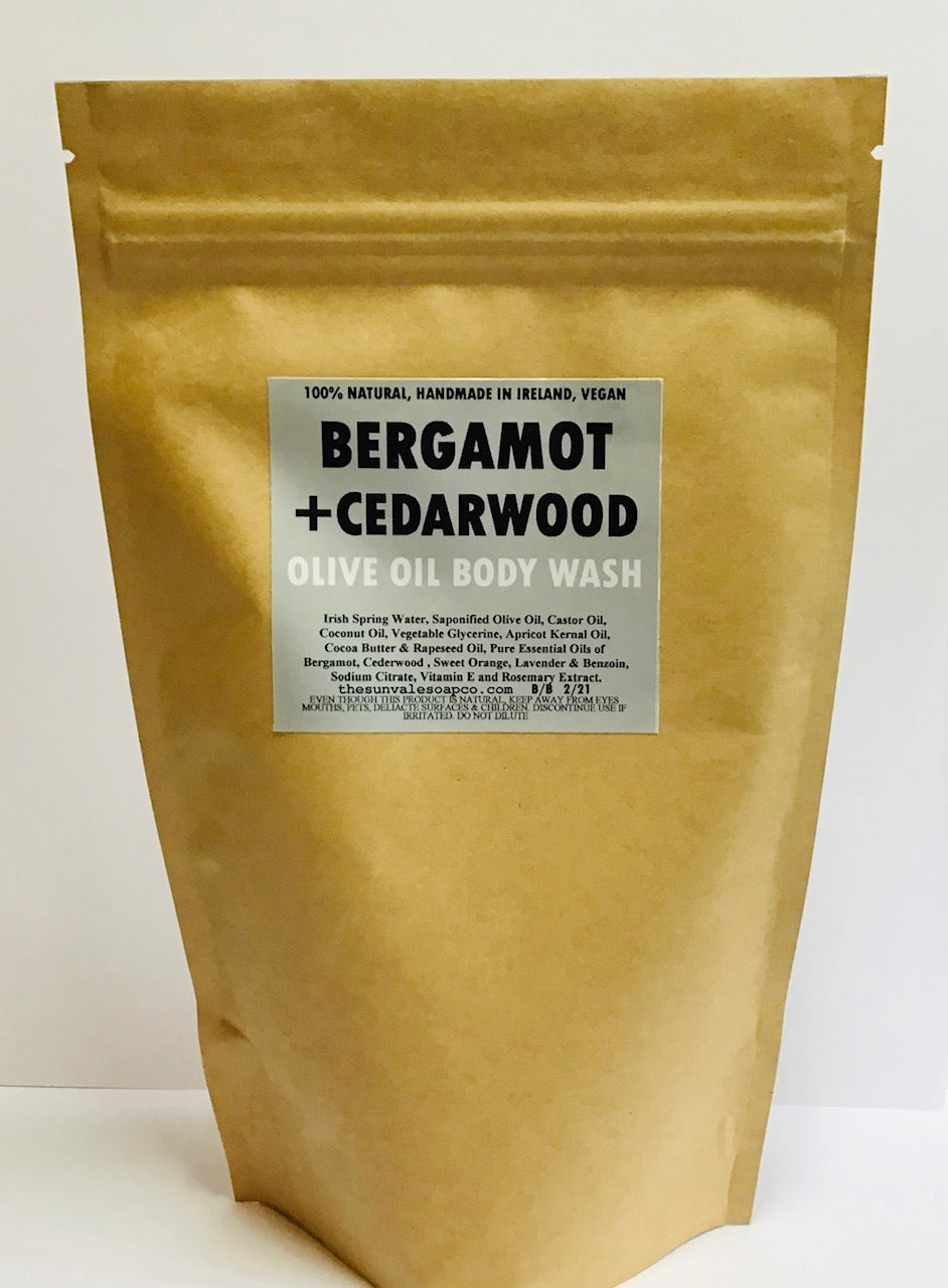 Bergamot And Cedarwood Olive Oil Body Wash Refill Pouch