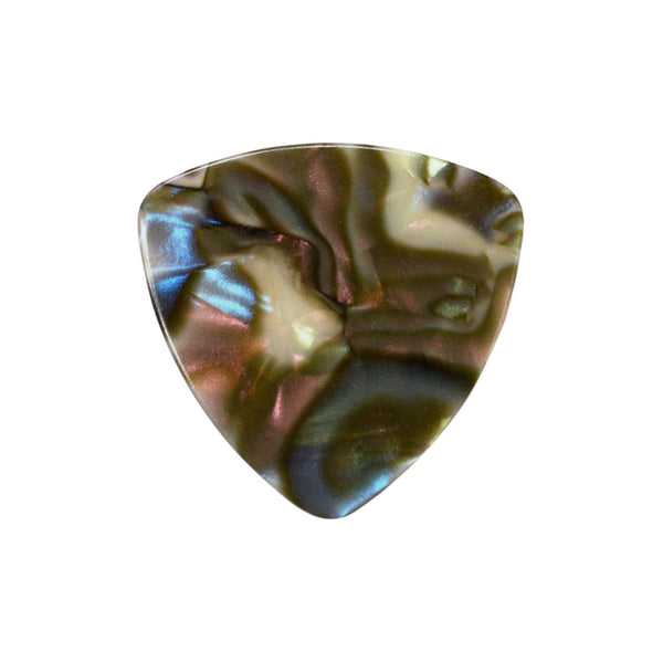 style 346 celluloid custom guitar pick abalone