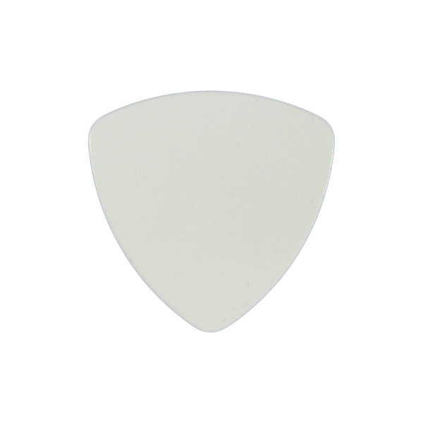style 346 celluloid custom guitar pick white