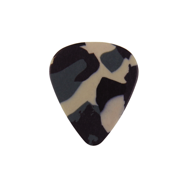 style 351 Celluloid custom guitar pick camoflage
