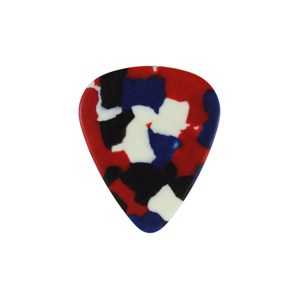 style 351 Celluloid custom guitar pick confetti