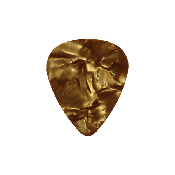 style 351 Celluloid custom guitar pick gold pearloid