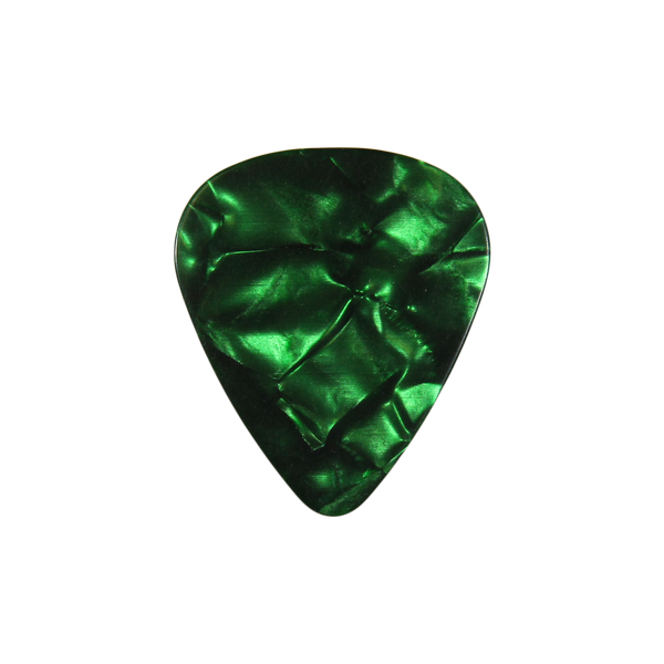 style 351 Celluloid custom guitar pick green pearloid