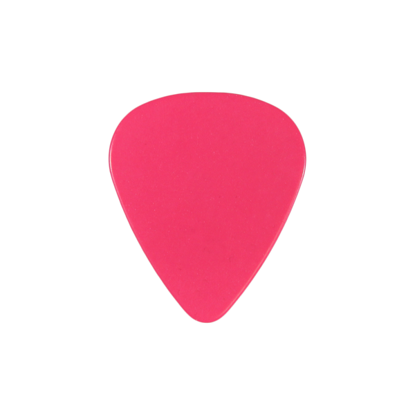 style 351 Celluloid custom guitar pick hot pink