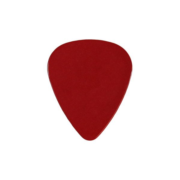style 351 Celluloid custom guitar pick red