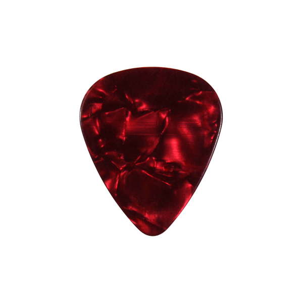 style 351 Celluloid custom guitar pick red pearloid