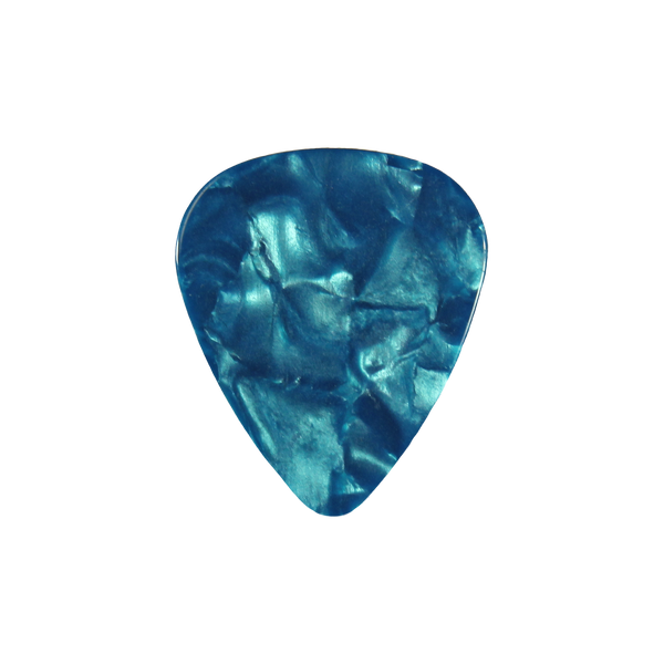 style 351 Celluloid custom guitar pick teal pearloid