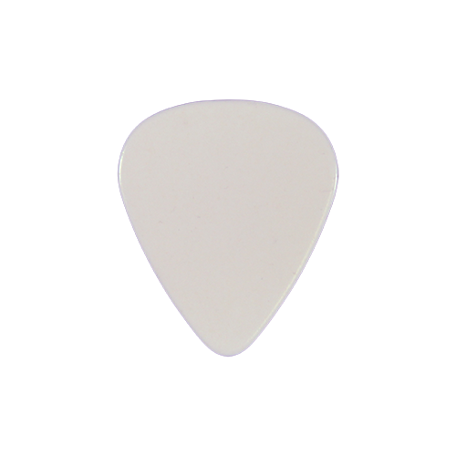 style 351 Celluloid custom guitar pick white