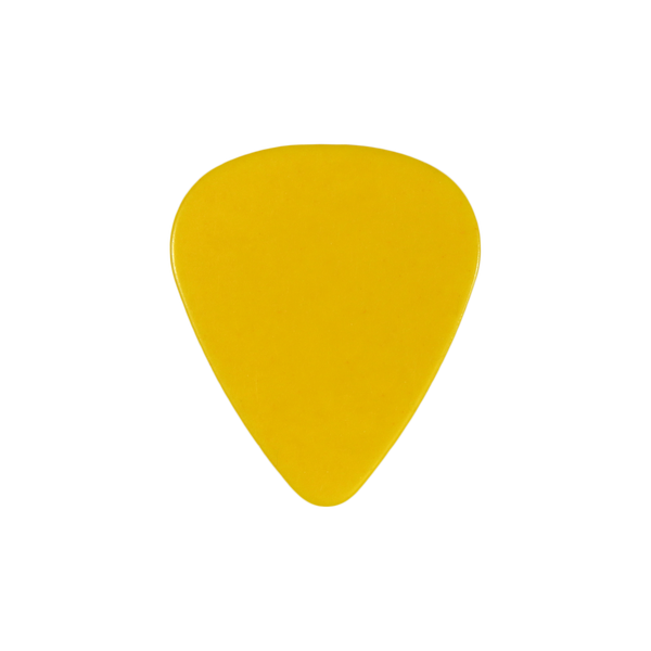 style 351 Celluloid custom guitar pick yellow