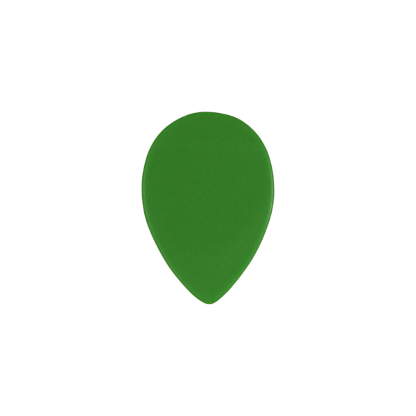 style 358 custom guitar pick delrin green