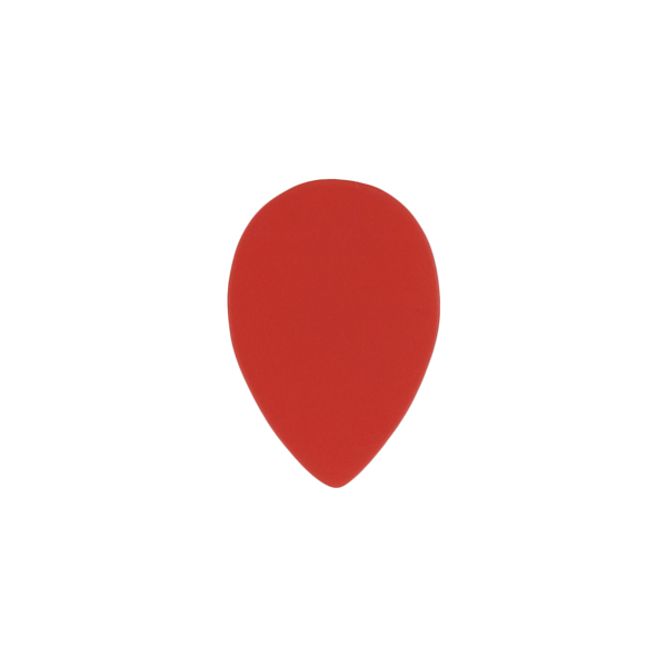 style 358 custom guitar pick delrin red