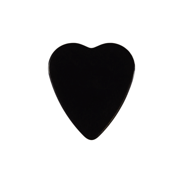 heart shaped custom guitar pick celluloid black