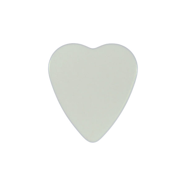 heart shaped custom guitar pick celluloid white