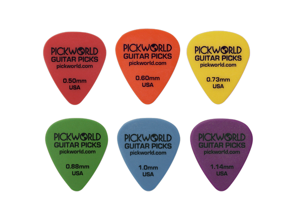 style 351 pickworld delrin guitar picks