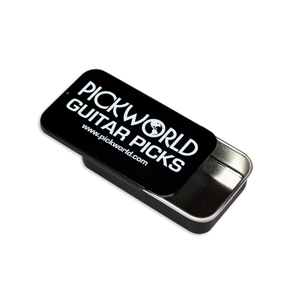 PickWorld black slider tin.